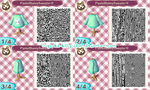 QR Code: Pastel Bunny Sweater, Blue by Sugary-Stardust