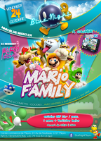 Flyer Mario Family - Blue Night (CH) by Ice-Beg