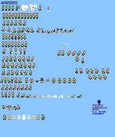 MLSS Power Squirrel Luigi Sprites Sheet by PxlCobit