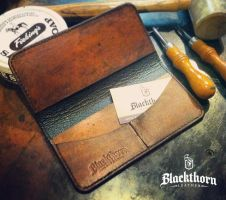 Checkbook Wallet by Blackthornleather