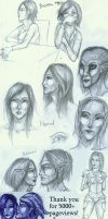 Skyrim faces by Lythael