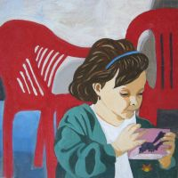 .juice + red chairs. by xiezniczka-fanaberia