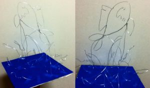 Jumping Fish Wire Sculpture by tiffc