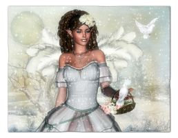 Fairy of winter by Ecathe