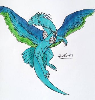 Feather Dragon #3 by ZukorraHale