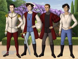Disney Princes 2 Tudor Style by TFfan234
