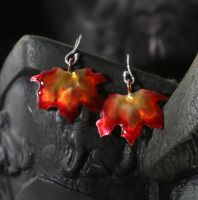 Autumn Maple Leaf Earrings by DariusSilver