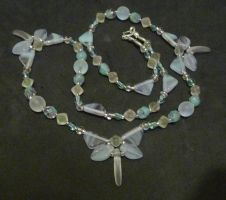 Uranium dragonfly necklace inc by wombat1138