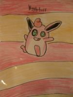 Wigglytuff drawing by MewMewMinto1123