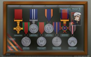 Honor Harrington's Medal Case by thomasthecat