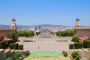 Wideangle View from Montjuic Palace by Mk-Photo
