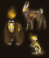Conceptartbro :3 Zombimals by The-F0X