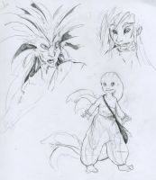 Fish People Concept Sketchs by TheMushman