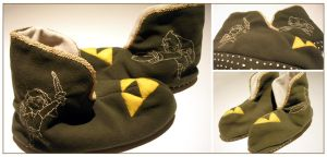 Windwaker Link slippers by restlesswillow