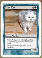 Magic the Gathering: Wet Cat by hell0z0mbie