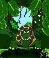 Terrifying turtle by jusbrublis