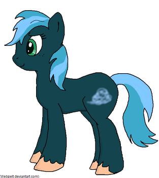 Blue Mist: First-time Pony OC OLD by Webpelt