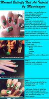 Monarch Butterfly Nailtutorial by Kythana