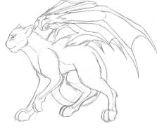 Dragon Mirhe - cat form by dragonsong12