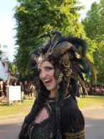 Stock - Vampire Queen gold and black Horns by S-T-A-R-gazer