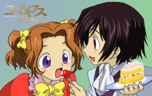 Young Nunnally and Lelouch by AsherothTheDestroyer
