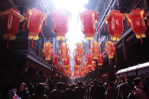 City Temple of Shanghai in Lunar New Year's Day by longbow