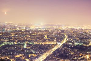 over the rooftops of paris by JuliaBruch
