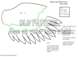 New Dragon Plush Pattern Wings by Monster-House-Fan92