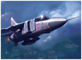 MiG-23Flogger Polish AIR Force by dugazm