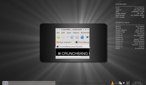 Crunchbang 10 Alpha 1st try... by Zwopper