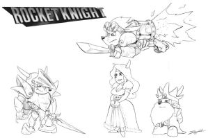 rocket knight characters by sterna