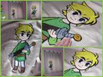 Legend of Zelda felt curtain. by elbuhocosturero