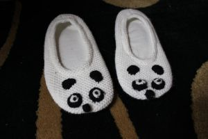 Panda Slippers by kato9stock
