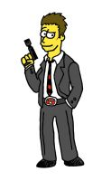 Booth as a Simpson by kyuuketsukigirl-15