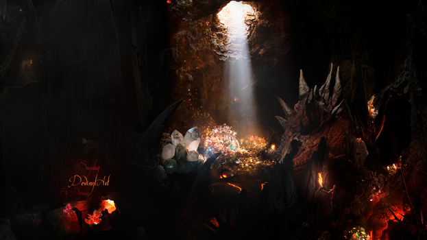 Smaug FanArt Version One by DraakeT by DraakeT