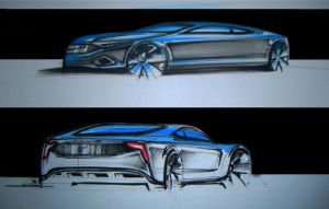 volvo sketches by Chrupson