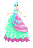 Weala Flowers Princess Ball Gown (REQUEST) by Sulexilayho