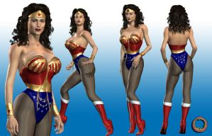 Wonder Woman Character Sheet by Uroboros-Art