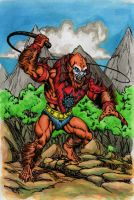 Beast-man in the vine jungle by danbrenus
