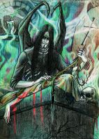 Mortician in Mortuary Chamber by Daelyth