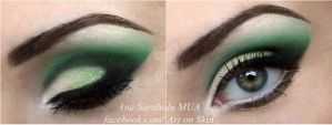 Green make up by hennyka