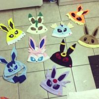 Full Set of Eevee Evolution Hats by chkimbrough
