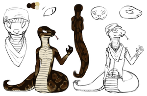 wip snakesona ref by Rattus-Shannica