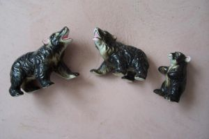 Bears, the 3, vintage ceramic by paintresseye