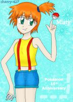 Misty Pokemon 15 anniversary by cherry-427