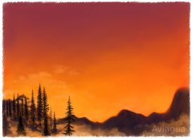 Sunset Forest by aviagua