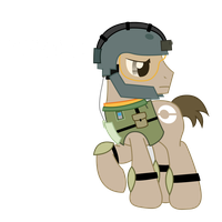 Ponyzone : ISA Soldier by ShadyHorseman
