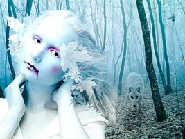 Deeper into the winter forest. by rustymermaid