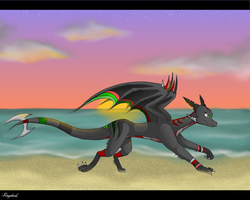 .:Runing on the beach:. by Rorita-Sakura