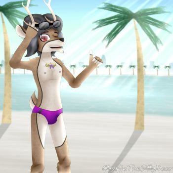 Beach vacations for the deer by CharlieTheSillyDeer